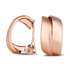 Jon Richard - Rose gold double wave clip on earring