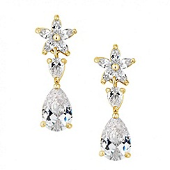 Jon Richard - Cubic zirconia flower and teardrop earring
