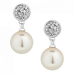 Jon Richard - Pave crystal pearl drop earring