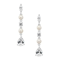 Alan Hannah Devoted - Designer jasmine cubic zirconia and pearl earring