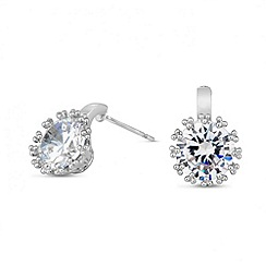 Jon Richard - Detailed round crystal clasp earring