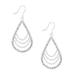Jon Richard - Chain detailed crystal oval drop earring