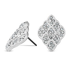 Jon Richard - Crystal set diamond shaped stud earring
