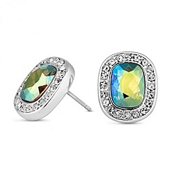 Jon Richard - Iridescent green crystal stud earring MADE WITH SWAROVSKI ELEMENTS