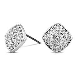 Jon Richard - Cubic zirconia encased square stud earring