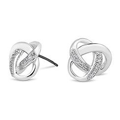 Jon Richard - Cubic zirconia embellished knot stud earring