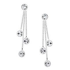 Jon Richard - Triple crystal chain drop earring
