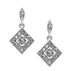 Jon Richard - Diamond shaped crystal drop earring