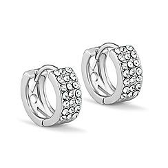 Jon Richard - Mini crystal silver hoop earring