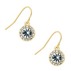 Jon Richard - Clara gold crystal drop earring