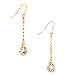 Jon Richard - Gold chain crystal teardrop earring