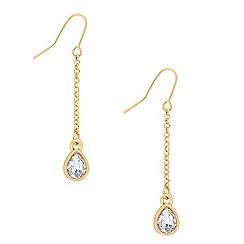 Jon Richard - Gold chain crystal teardrop earring