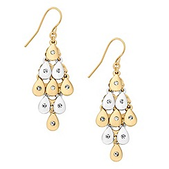 Jon Richard - Crystal encased two tone chandelier earring