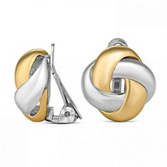 Jon Richard - Two tone knot clip on earring