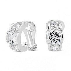 Jon Richard - Triple cubic zirconia clip on earring