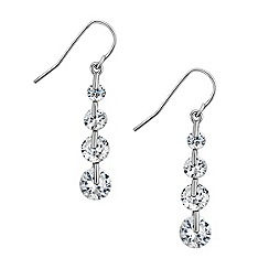 Jon Richard - Graduated cubic zirconia drop earring