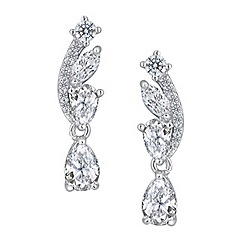 Jon Richard - Rose cubic zirconia earring