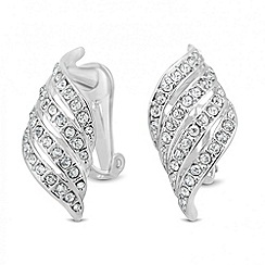 Jon Richard - Crystal embellished wave clip on earring