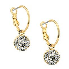 Jon Richard - Gold hoop and crystal charm drop earring