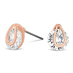 Jon Richard - Rose gold tension crystal stud earring
