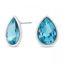 Jon Richard - Aqua crystal peardrop stud earring