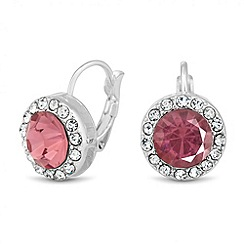 Jon Richard - Pink crystal surround drop earring