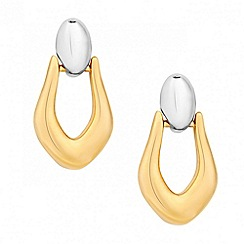 Jon Richard - Two tone door knocker earring