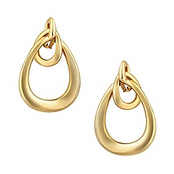 Jon Richard - Polished gold loop drop earring