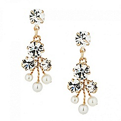 Jon Richard - Online exclusive pearl and crystal drop earring