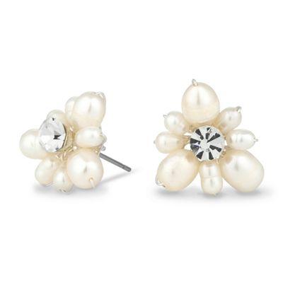 Alan Hannah Devoted Designer blossom freshwater pearl earring - . -
