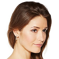 Jon Richard - Polished gold and crystal link drop earring