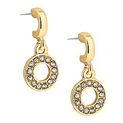 Jon Richard - Crystal embellished disc drop earring