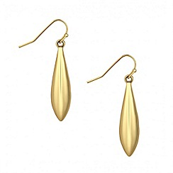 Jon Richard - Polished gold elongated peardrop earring