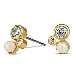 Jon Richard - Cubic zirconia and pearl triple stud earring