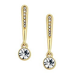 Jon Richard - Gold embellished stick and crystal drop earring