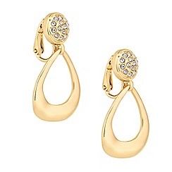 Jon Richard - Crystal door knocker drop clip on earring