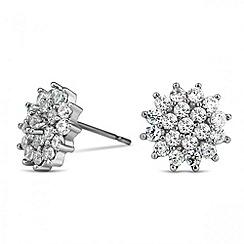 Jon Richard - Cubic zirconia flower stud earring