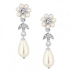 Alan Hannah Devoted - Designer pearl floral peardrop earring