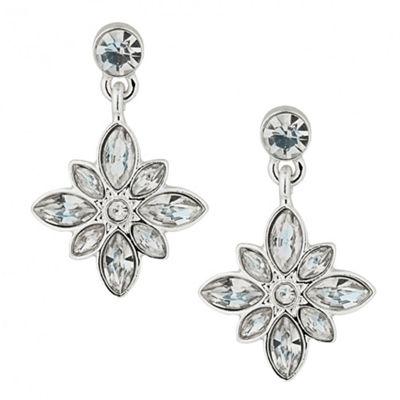 Alan Hannah Devoted Designer crystal cluster flower drop earring - . -