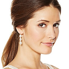 Jon Richard - Triple crystal surround drop earring
