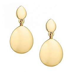 Jon Richard - Polished oval double drop earring