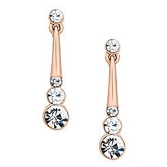 Jon Richard - Graduated crystal stick rose gold drop earring