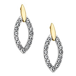Jon Richard - Two tone crystal navette drop earring