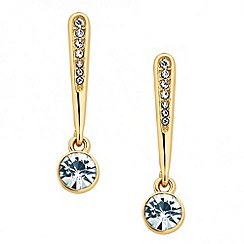 Jon Richard - Crystal embellished stick clip on earring