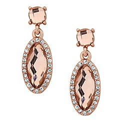 Jon Richard - Peach oval stone surround drop earring