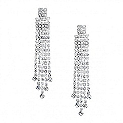 Jon Richard - Diamante crystal multi tassel drop earring