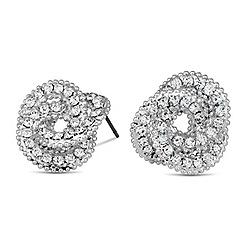 Jon Richard - Diamante crystal knot stud earring
