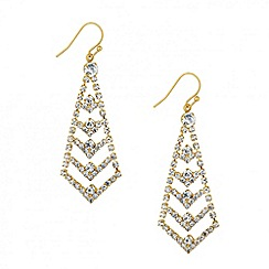 Jon Richard - Crystal embellished arrow drop earring