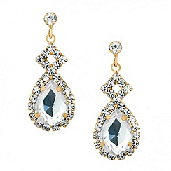 Jon Richard - Diamante crystal teardrop surround earring
