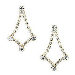 Jon Richard - Diamante crystal chandelier drop earring